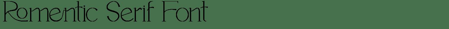 Romentic Serif Font
