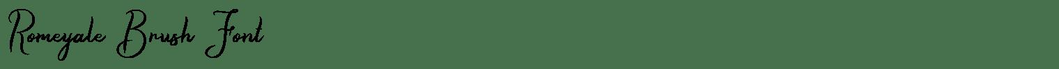 Romeyale Brush Font
