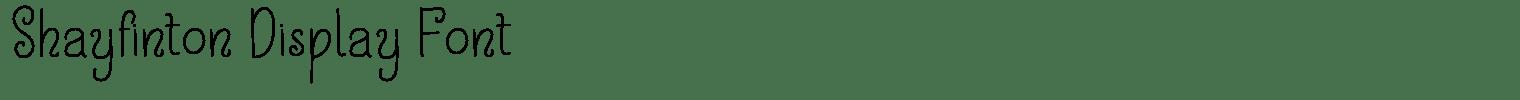 Shayfinton Display Font