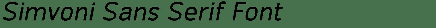 Simvoni Sans Serif Font