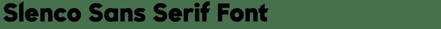 Slenco Sans Serif Font