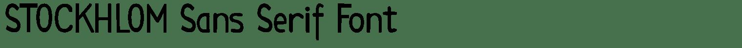 STOCKHLOM Sans Serif Font