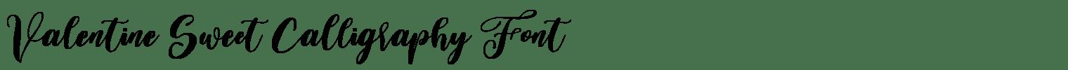 Valentine Sweet Calligraphy Font