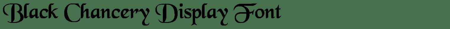 Black Chancery Display Font