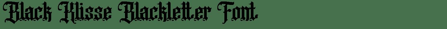 Black Klisse Blackletter Font