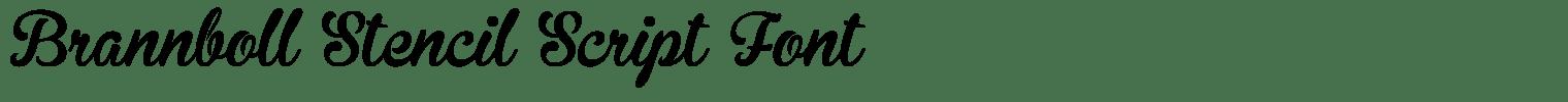 Brannboll Stencil Script Font