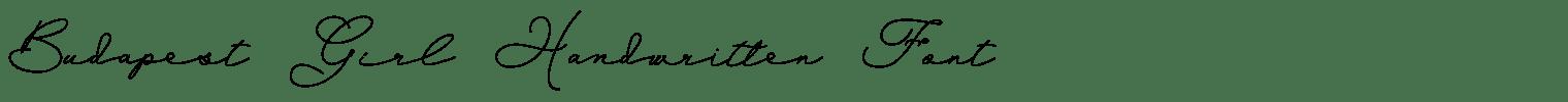 Budapest Girl Handwritten Font