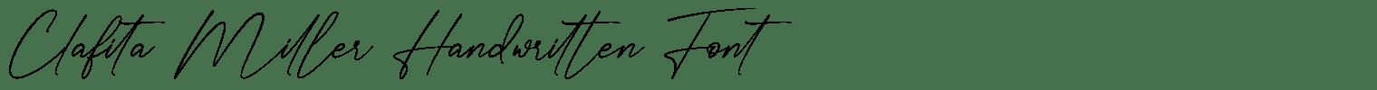 Clafita Miller Handwritten Font