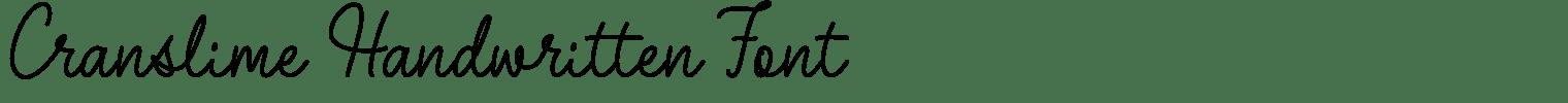 Cranslime Handwritten Font
