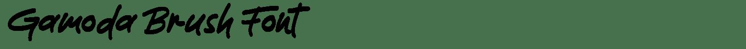 Gamoda Brush Font