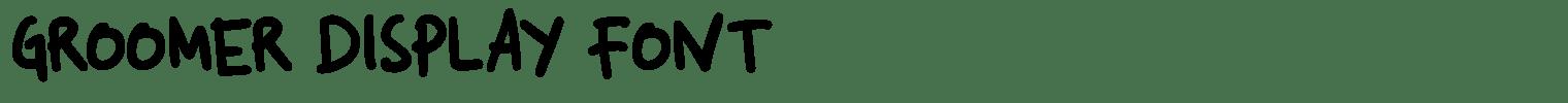 Groomer Display Font