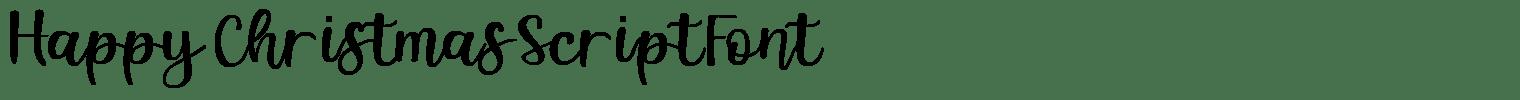 Happy Christmas Script Font