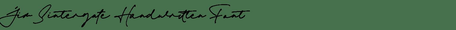 Jim Sintergate Handwritten Font