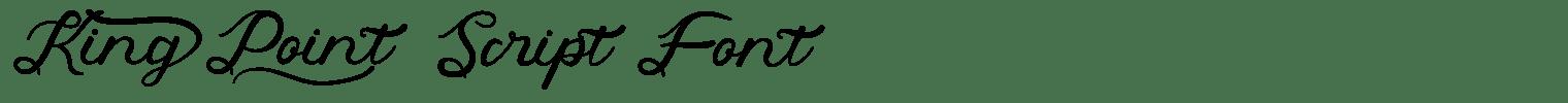 King Point Script Font