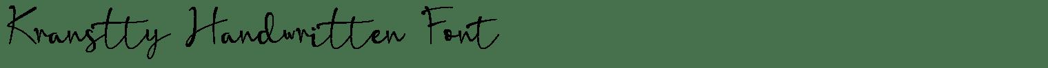 Kranstty Handwritten Font