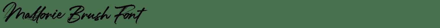 Mallorie Brush Font