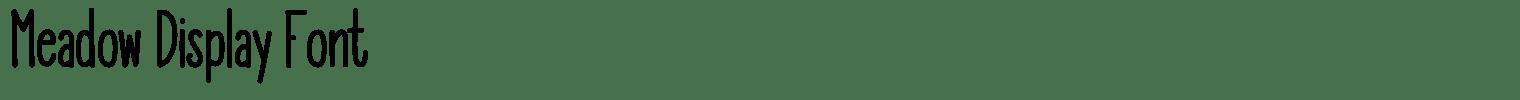 Meadow Display Font