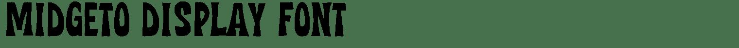 Midgeto Display Font