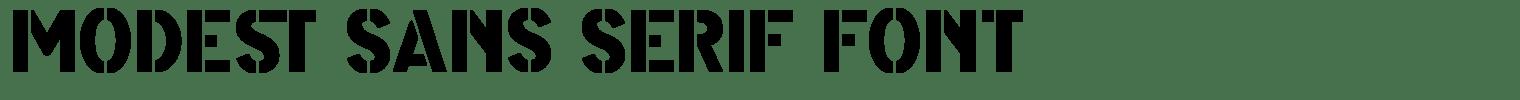 Modest Sans Serif Font