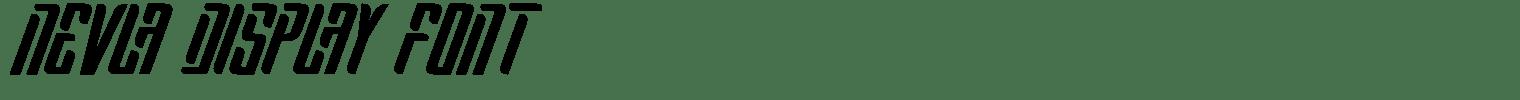 Nevla Display Font