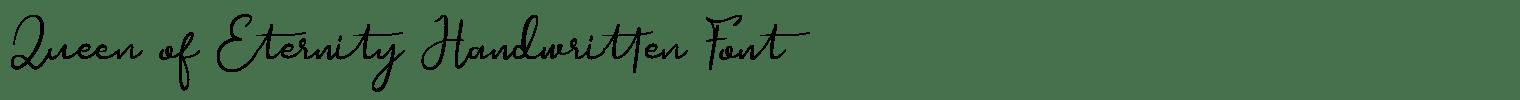 Queen of Eternity Handwritten Font