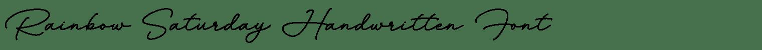 Rainbow Saturday Handwritten Font