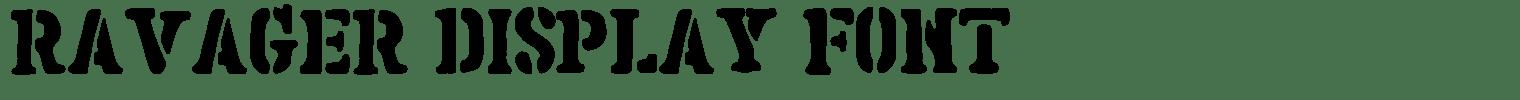 Ravager Display Font