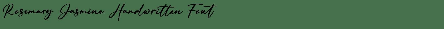 Rosemary Jasmine Handwritten Font
