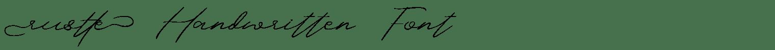 Rustte Handwritten Font