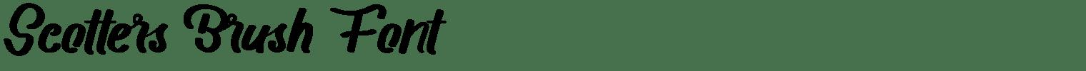 Scotters Brush Font
