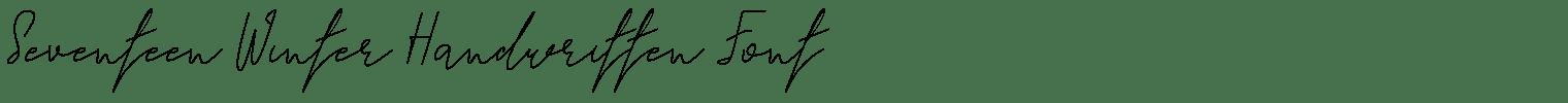 Seventeen Winter Handwritten Font