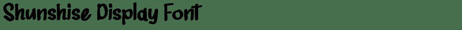 Shunshise Display Font