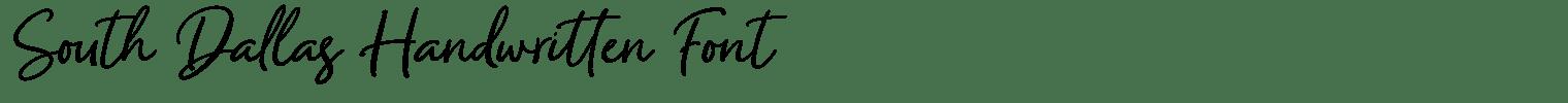 South Dallas Handwritten Font