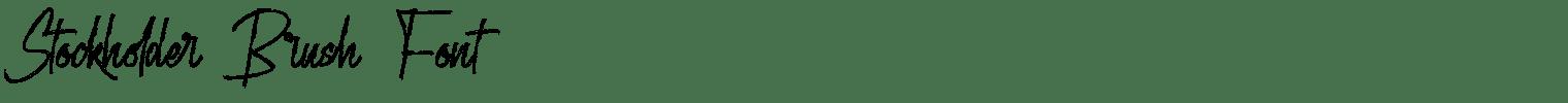 Stockholder Brush Font