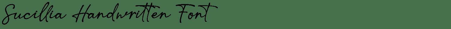 Sucillia Handwritten Font