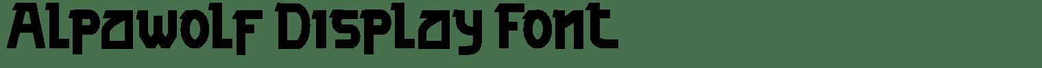 Alpawolf Display Font