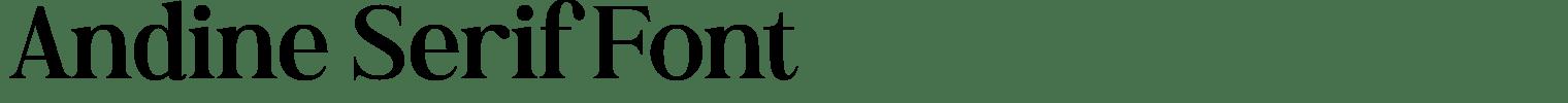 Andine Serif Font