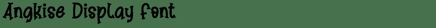 Angkise Display Font