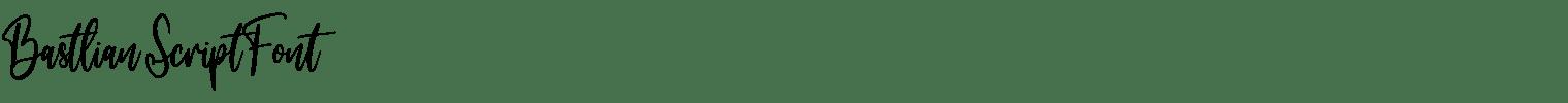 Bastlian Script Font