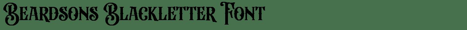 Beardsons Blackletter Font