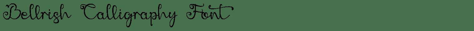 Bellrish Calligraphy Font