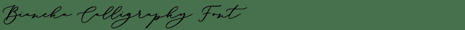Biancha Calligraphy Font