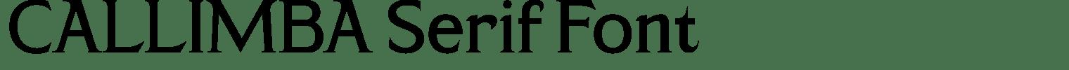 CALLIMBA Serif Font