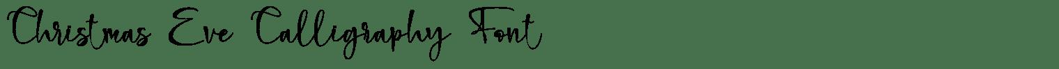 Christmas Eve Calligraphy Font