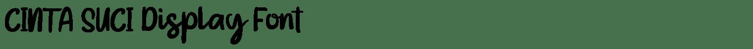 CINTA SUCI Display Font