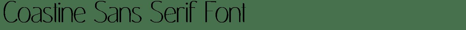 Coastine Sans Serif Font
