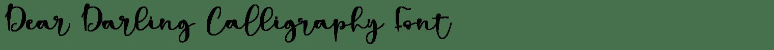 Dear Darling Calligraphy Font