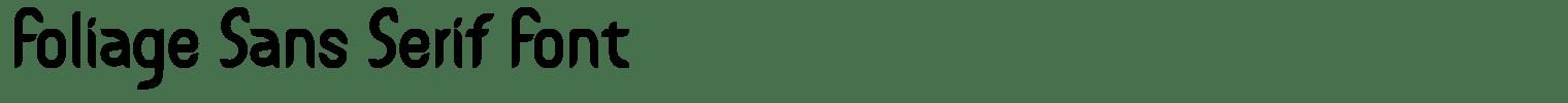 Foliage Sans Serif Font