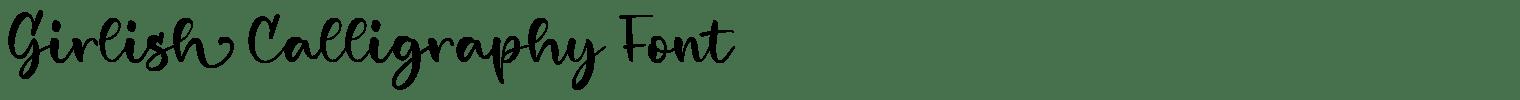 Girlish Calligraphy Font