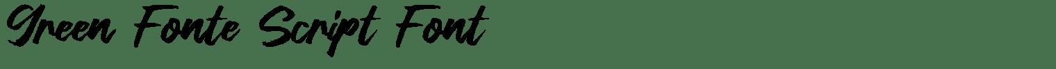 Green Fonte Script Font